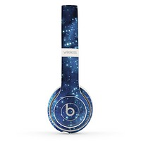The Glowing Blue V3 Orbs of Light Skin Set for the Beats by Dre Solo 2 Wireless Headphones