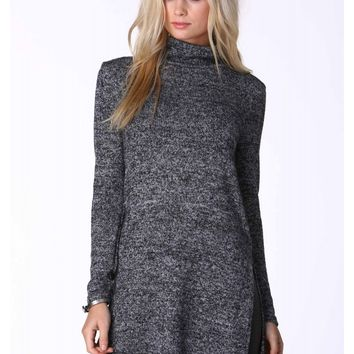 Lynne Mock Neck Sweater Dress