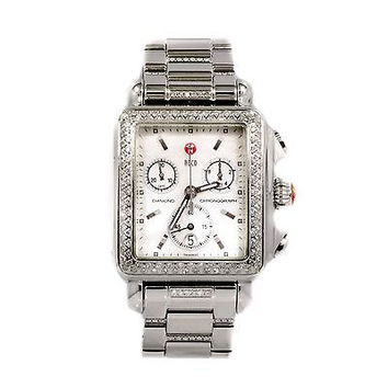 MICHELE DECO 71-6000 1.08CT DIAMOND BEZEL STAINLESS STEEL QUARTZ WOMENS WATCH