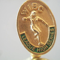 WIBC Bowling League Pin High Series Club Women's Bowler Award Jewelry Accessories