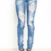 SHREDDED FADE JEANS