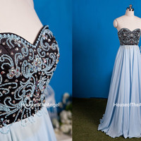 Custom made sweetheart A-line beading bridesmaid dresses long evening dress long prom dresses 2015