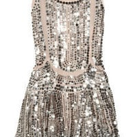 [sold out]   Anna Sui|Silk-tulle sequin-embellished dress|NET-A-PORTER.COM