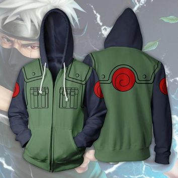 Anime Naruto Hatake Kakashi 3D Print Hoodies Sweatshirts Cosplay Larger Sizes