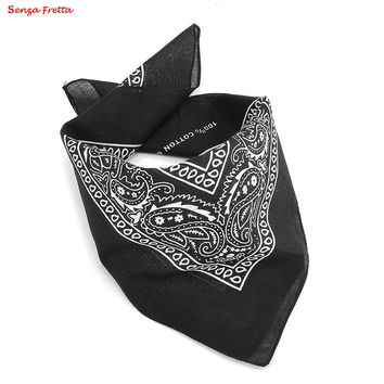 3 Colors New Paisley Bandana Head wrap Cotton Head Wrap Neck Scarf Wristband Handkerchief Black White Red D01390