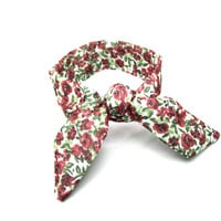 Floral Bun Crown Wire Hair Tie Bun Wrap Top Knot Tie Wrist Wrap Hair Tie Ponytail Wrap Red Green White Hair Accessory Small Gift Idea
