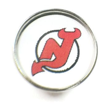 NHL Hockey Logo New Jersey Devils 18MM - 20MM Fashion Snap Jewelry Snap Charm New Item