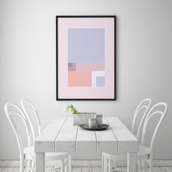 Pantone Print, Geometric Print, Geometric Art, Bedroom Decor, Wall Art, Modern Poster, Modern Home Decor, Abstract Art Print, 8x10 Poster.