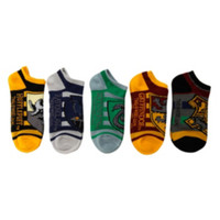 Harry Potter Hogwarts Striped No-Show Socks