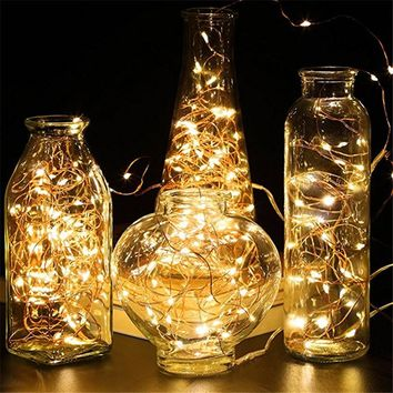 5M 50LED fairy garland Lamp LED String Lights by CR2032 battery operated for Christmas wedding Birthday party Holiday Decoration