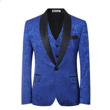 2017 New Men  3-piece Suit Costume Male Formal Blue Wedding Suits  Groom Tuxedo Classic Costume Homme Chaqueta Elegante Hombe