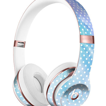 Micro Polka Dots Over Blue Watercolor Surface Full-Body Skin Kit for the Beats by Dre Solo 3 Wireless Headphones