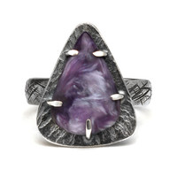 Chariote Spiritual Ring made with Sterling Silver size 8