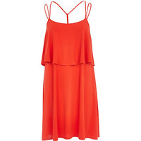 River Island Womens Red double layer strappy slip dress