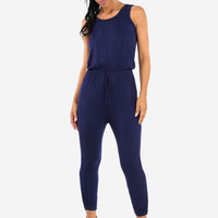 Navy Solid Jumpsuit