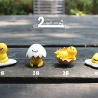 4 pcs / DIY supplies / Decoden / Egg / Gudetama / Lazy / Lovely / Yolk  / Zakka / Faineant / 3cm / ESC239