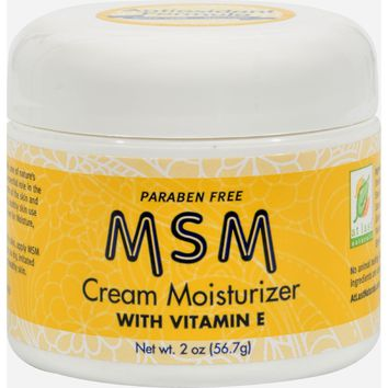 At Last Naturals Msm Cream Moisturizer With Vitamin E - 2 Oz