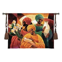 Fine Art Tapestries Caress Tapestry - Keith Mallett - 2873-WH