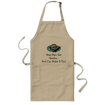 Real Men Eat Quiche Long Apron