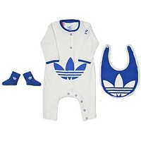 ADIDAS I STR BABYGROWN 3 PIECE BABY/INFANT SET/BODYSUIT/SOCKS/BIB ON EBAY AUS