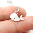 Adorable Whale Shaped Animal Inspired Charm Necklace in Silver | Animal Jewelry
