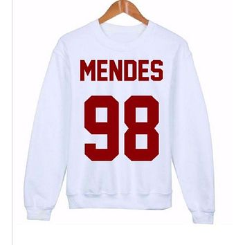 LMFIH3 Fashionable English Sweater MENDES 98 red words