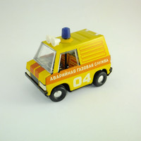 Rare Vintage Soviet Gas Emergency Vehicle Car Made in USSR Tin Toy Gift Car Vehicle, CCCP Gas Emergency Truck Gas Emergency Car