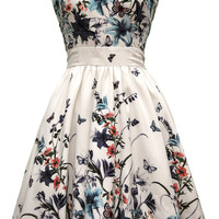 The *NEW* Butterfly Floral Border Tea Dress