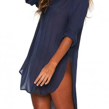 Blue Megan Beach Cover-Up Tunic