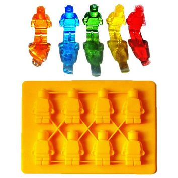 DIY Tools Happy Baking Square Lego Toy Brick Shape Ice Cube Mold Silicone Chocolate Mold Bakeware 1PCS