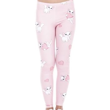 Kitty Cat Printed Women Leggings XS-L