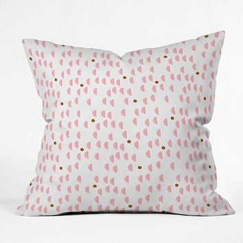 Laura Redburn Pink Rain Throw Pillow