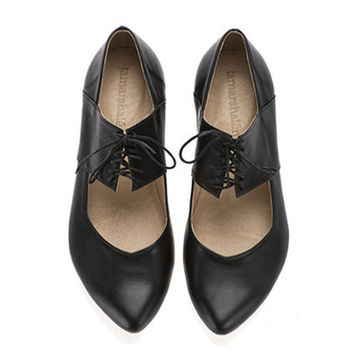 Black shoes, Vicky, handmade, ballerina shoes, flats, leather shoes, by Tamar Shalem on etsy