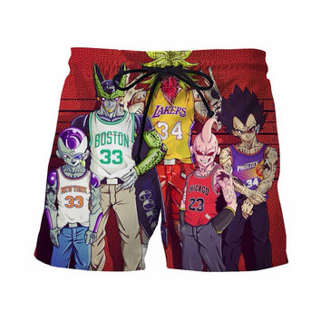 Basketball Dragon Ball Z Board Shorts