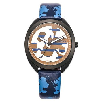 Disney  Mickey Mouse Leather Quartz  Waterproof Wrist Watch.  Comes in 2 Colors.   Gift Boxed