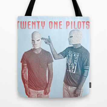 Twenty One Pilots Tote Bag by Hands in the Sky