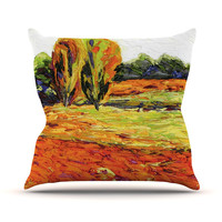 "Jeff Ferst ""Summer Breeze"" Orange Foliage Throw Pillow"