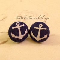 Anchor Earrings.  by PocketTeesandThings on Etsy