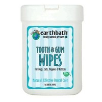 Earthbath Tooth Gum Wipes for Pets | Dog - Dental Care