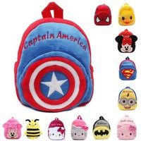 Ecoparty 2016 new kids Plush Backpacks cartoon mini plush back packs Children School Bags For Girls Boys High Quality plush toys
