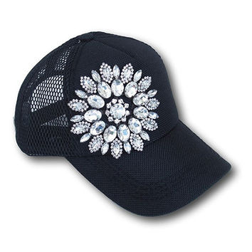 Black Bling Trucker Hat
