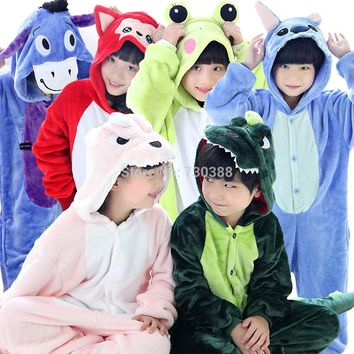 Funny Kids Pajamas Anime Animal Outwear Children Party Coplay Costumes Girls Boy Rilakkuma Totoro Dinosaur Minions Unicorn Tiger