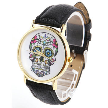 Ladies Sugar Skull Watch