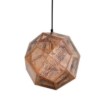 Modern Rose Gold Stainless Steel Reproduction Etch Shade Pendant Ceiling Light