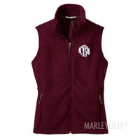 Monogrammed Fleece Vest | Marleylilly