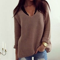 Long Sleeve Knitwear SWEATER Jumper Cardigan