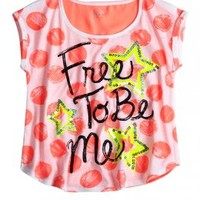Polka Dot Typography Top | Short Sleeve | Tops & Tees | Shop Justice