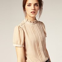 ASOS | ASOS Button Shoulder Blouse at ASOS
