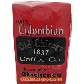 "Colombian ""Blackened Roast"" Dark Roast Ground Coffee by Old Chicago Coffee Co"