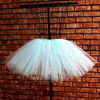 Cinderella Tutu - Baby Blue and White - Halloween Tutu - Available in Infant, Toddlers, Girls, Teenager and Adult Sizes